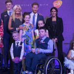 Meghan Markle Meghan and Prince Harry at the awards (Image PA)