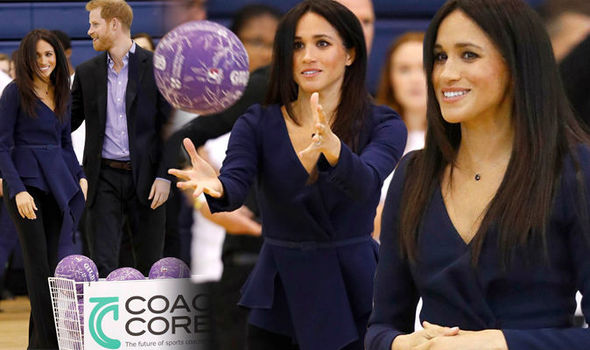 Meghan Markle attended a coaching awards ceremony with Prince Harry (Image PA)