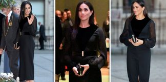 Meghan Markle dazzled in the black Givenchy dress (Image GETTY)