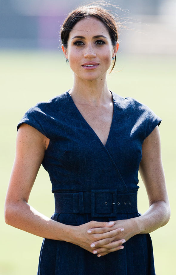 Meghan Markle news Expert has likened Meghan's body language to that of the late Princess Diana (Image GETTY)