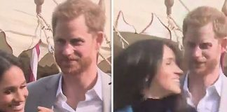Meghan Markle news Prince Harry was praised online after the affection moment with his wife (Image TWITTER)
