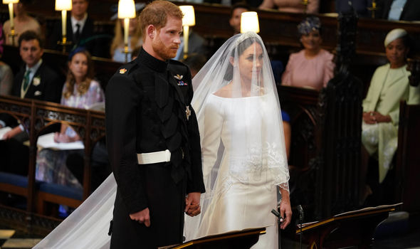 Meghan Markle wedding dress cost Meghan and Prince Harry (Image Getty)