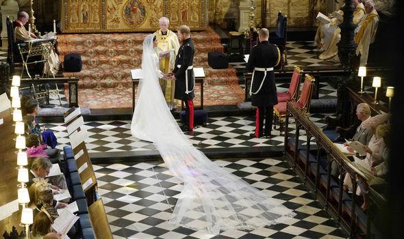 Meghan Markle wedding dress cost Meghan's dress was designed by Clare Waight Keller (Image Getty)