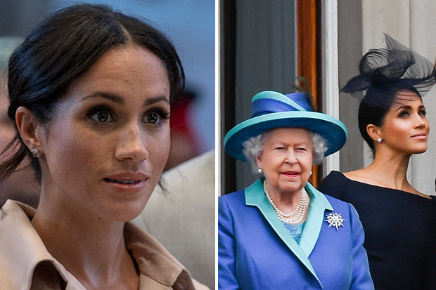 Meghan Markle will not have a buffer of other seasoned royals Photo (C) GETTY