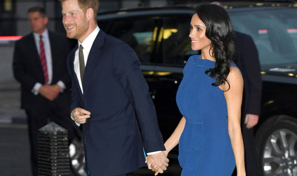 Meghan and Harry attended the 100 Days to Peace gala event on Tuesday night (Image GETTY)