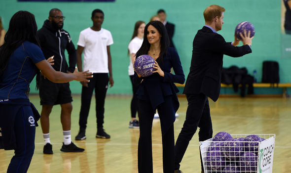 Meghan and Harry getting stuck in at the Coach Core Awards (Image GETTY)