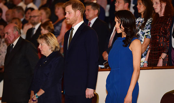 Meghan's apparent bump has increased speculation about her possible pregnancy (Image GETTY)