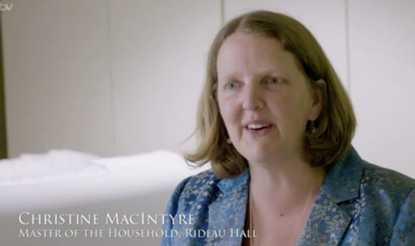 Ms Macintyre oversees the Queen's Royal trips to Canada (Image ITV)
