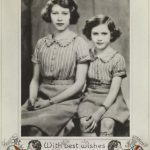 Portrait photograph of Princess Elizabeth and Princess Margaret as a Christmas card, 1939 (Royal Collection Trust © Her Majesty Queen Elizabeth II 2018)
