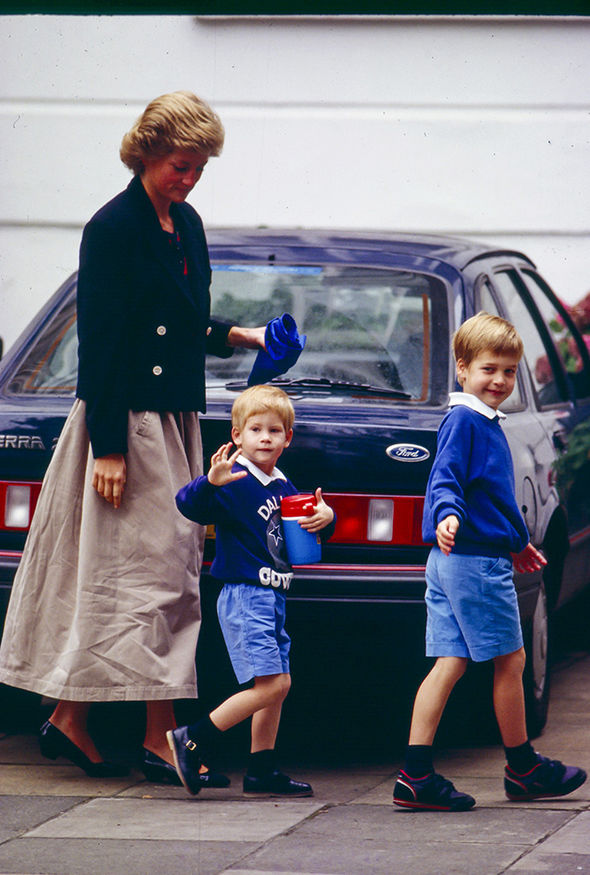 Prince Diana's youngest son Harry gained her 'naughty streak' (Image GETTY )