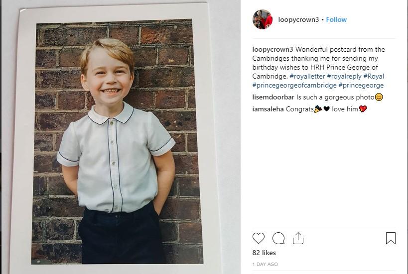 Prince George 5th Birthday Photo (C) INSTAGRAM GETTY