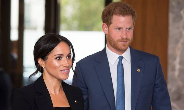 Prince Harry and Meghan Markle bid sad farewell at palace Photo (C) GETTY