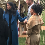 Prince Harry proudly supported his wife Meghan at her first party [Twitter Chris Ship]
