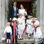 Prince Konstantin of Bavaria's bridesmaids wore flower garlands like Princess Charlotte (Image GETTY)