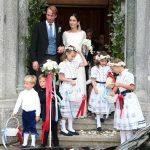 Prince Konstantin of Bavaria's bridesmaids wore flower garlands like Princess Charlotte (Image GETTY)
