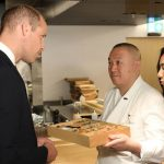 Prince William and Kate William receives a bento box by chef Akira Shimizu (Image AFP Getty)