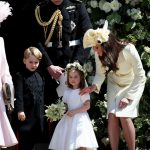 Princess Charlotte as bridesmaid and Meghan and Harry's Royal Wedding (Image GETTY)