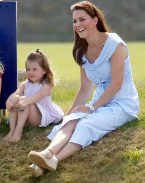 Princess Charlotte school Kate and Charlotte at the Maserati Royal Charity Polo Trophy (Image Getty)