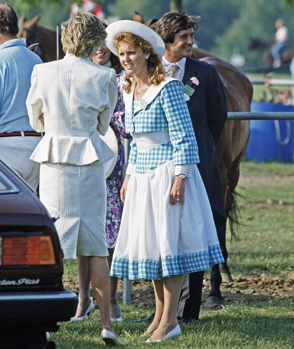 Princess Diana, Sarah Ferguson and Oliver Hoare (Image GETTY )