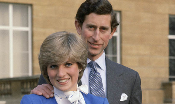 Princess Diana and Prince Charles after they announced their engagement (Image GETTY)