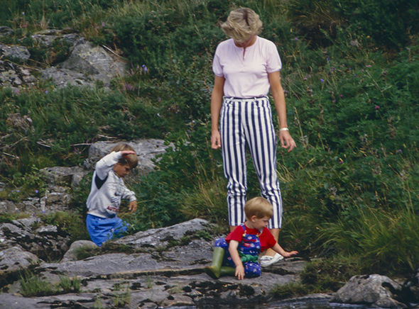 Princess Diana 'broke the boundaries' in her parenting of William and Harry (Image GETTY )