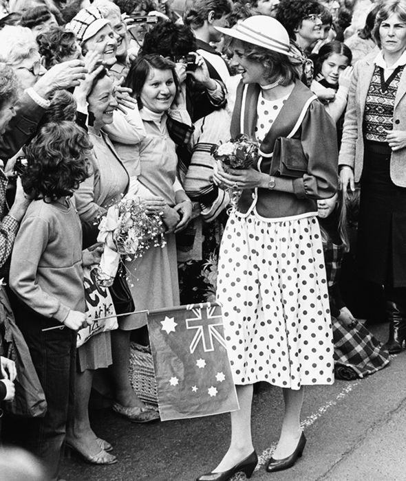 Princess Diana charmed the nation on her walk rounds (Image GETTY )