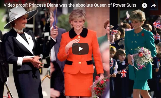 Princess Diana was the absolute Queen of Power Suits