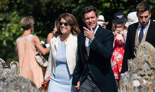 Princess Eugenie and her fiancé Jack Brooksbank (Image GETTY)
