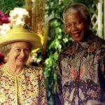 Queen Elizabeth II and Nelson mandala. Photo (C) GETTY
