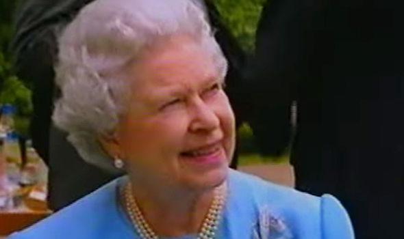 Queen Elizabeth's corgi enjoying the Garden Party (Image reelsarency)