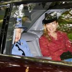 Royal family news Queen Elizabeth II, 92, sat in the back of a car with Autumn Phillips (Image GETTY)