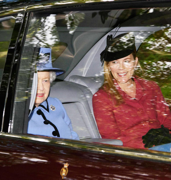 Royal family news Queen was seen today arriving at church dressed in her Sunday best (Image GETTY)