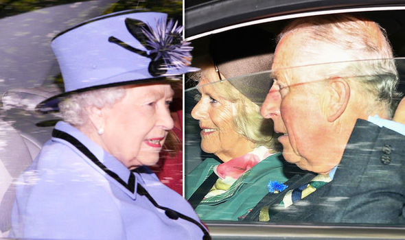 Royal family news Queen Elizabeth II, Prince Charles, Camilla and Autumn Phillips spotted today (Image GETTY)