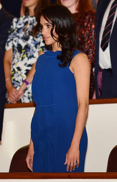 Royal fans suspect that Meghan Markle is pregnant due to her bigger breast and stomach Photo (C) GETTY