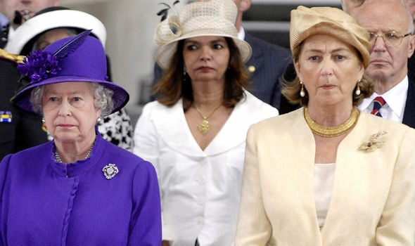 Royal new Queen Paola with the UK's Queen (Image GETTY )
