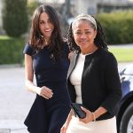 Samantha has also targeted Meghan's mother Doria Ragland (pictured right in May) saying she smokes marijuana