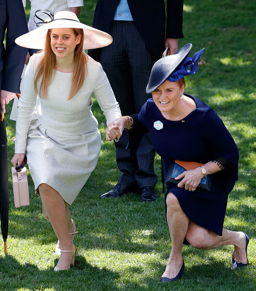Eugenie's wedding appears to have balmed tensions between the duchess and her in-laws (Image GETTY)