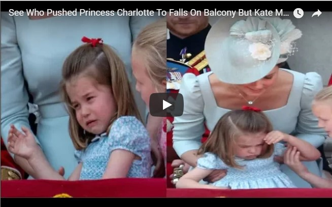 See Who Pushed Princess Charlotte To Falls On Balcony But Kate Middleton Saved The Day