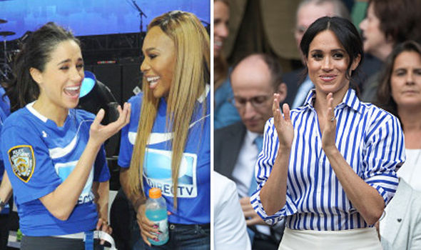 Serena Williams has opened up about her special relationship with her long-time friend Meghan Markle (Image Getty)
