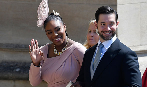 Serena was pictured with her husband, Reddit founder Alexis Ohanian, at the Royal Wedding in May (Image Getty)