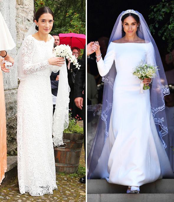 Princess Deniz of Bavaria channelled Meghan Markle's wedding look (Image Getty)