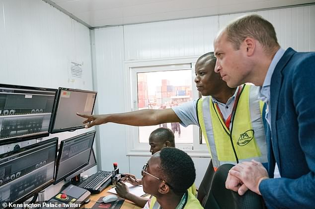 The Duke met with port workers to see how the UN Office on Drugs and Crime is working to stop the illegal exportation
