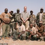 The Duke of Cambridge also viewed the work of Save the Rhino in Kunene, in his role as patron of conservation organisation Tusk