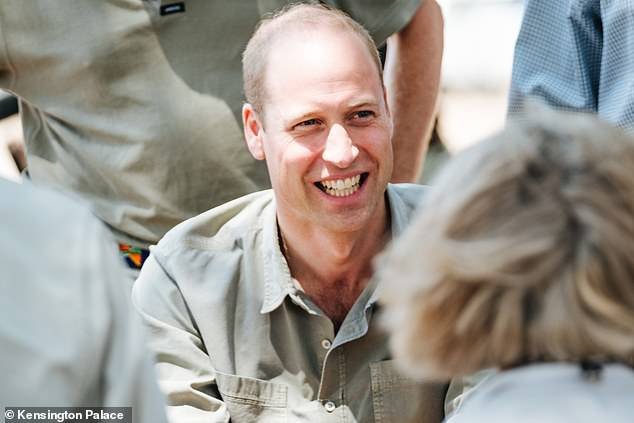 The Duke of Cambridge said he was 'humbled by the dedication of the rangers who protect the unique population of desert rhino from poachers'