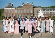 The Kingdom Choir outside Kensington Palace Photo (C) GETTY
