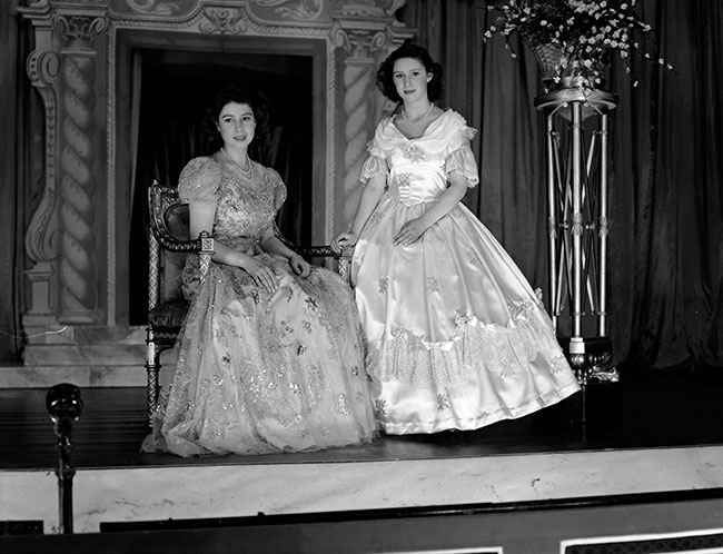 The Queen and Princess Margaret would even perform pantomimes at Windsor Photo (C) GETTY