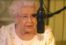 The Queen had to re-record her annual Christmas message because of a bird chirping in the background (Image ITV)