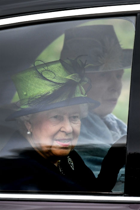 The Queen is joined at church in Balmoral by these two royal siblings Photo (C) GETTY