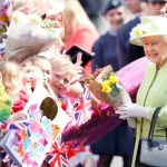 The amusing incident happened at the Queen's 90th birthday walkabout in Windsor Photo (C) GETTY