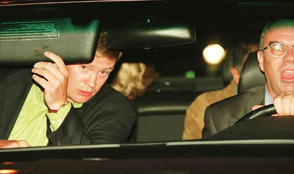 The bodyguard was in the front passenger seat of the black Mercedes (Image GETTY)